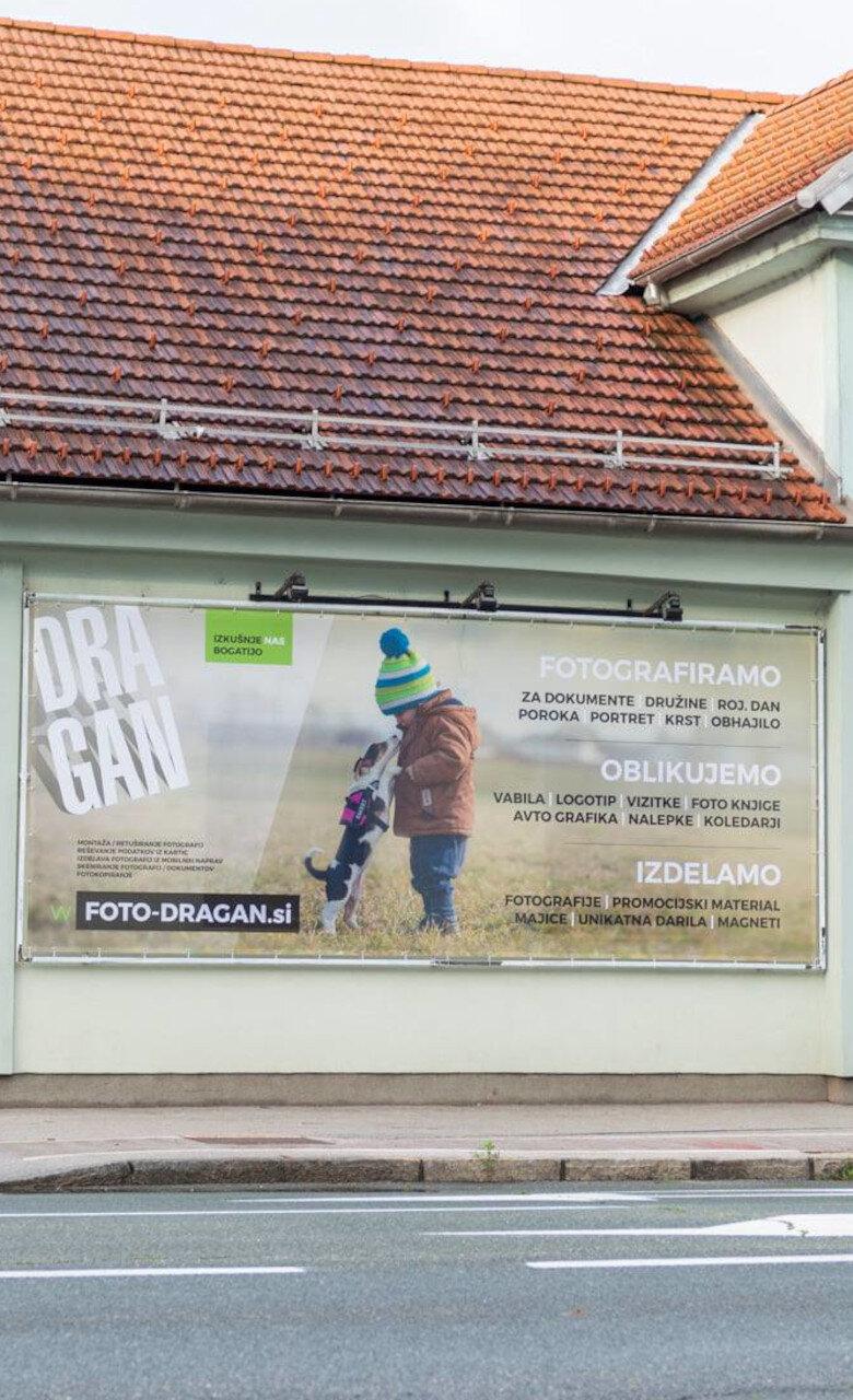 "Zunanji promocijski PVC mesh banner ""Dragan"""